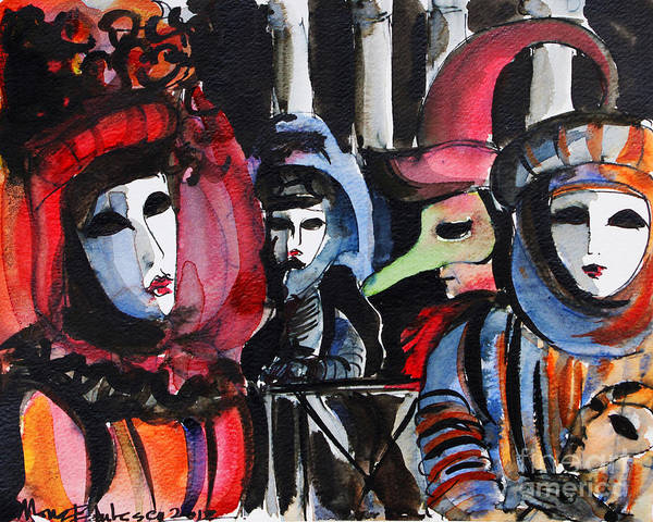 Carnival Painting - Venice Carnival 1 by Mona Edulesco