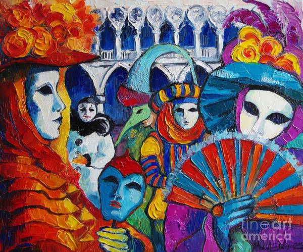 Carnival Painting - Venice Carnival by Mona Edulesco