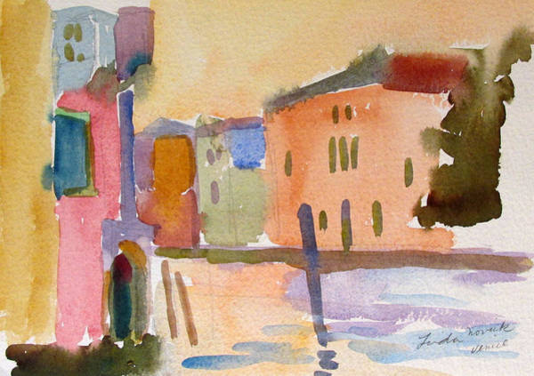 Painting - Venice Dawn by Linda Novick