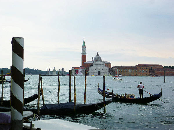 Gondola Photograph - Venice Evening Last Gondola Ride by Irina Sztukowski