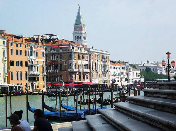Photograph - Venice Gondolas On Canal Grande by Irina Sztukowski