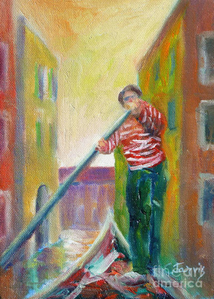 Painting - Venice Gondolier by Carolyn Jarvis