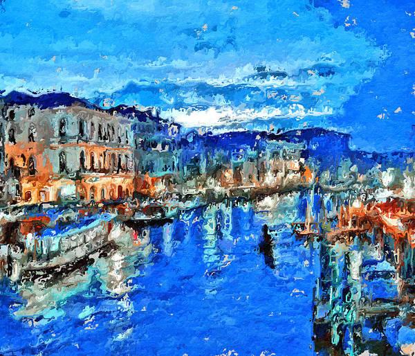 Daylight Digital Art - Venice Grand Canal Blue by Yury Malkov