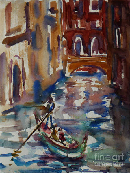 Painting - Venice Impression V by Xueling Zou