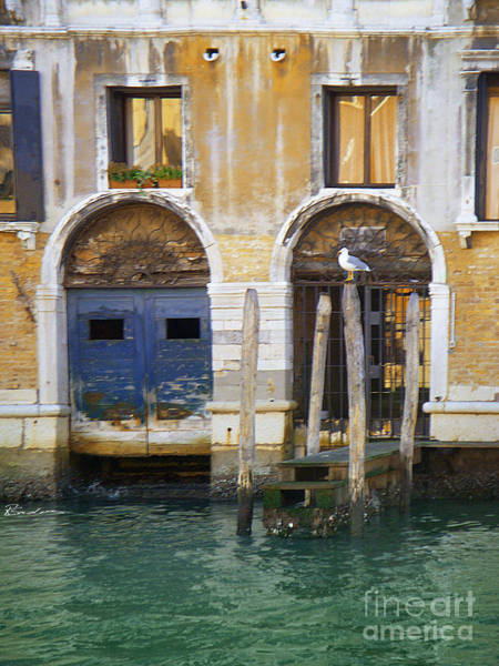Mixed Media - Venice Italy Double Boat Room by Robyn Saunders