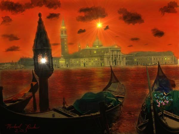 Wall Art - Digital Art - Venice - Italy by Michael Rucker