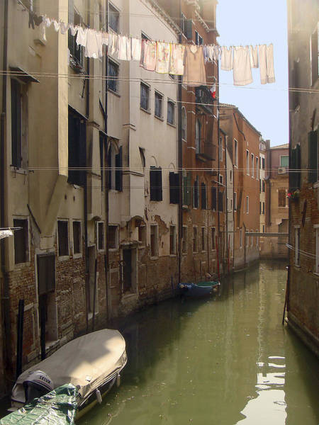 Photograph - Venice Laundry Day by Karen Zuk Rosenblatt
