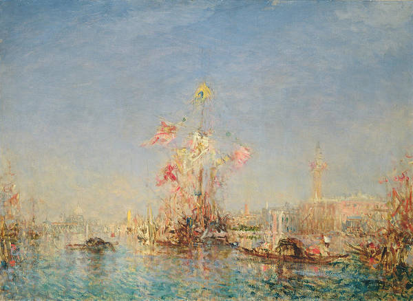 Dappled Light Painting - Venice  by Felix Ziem