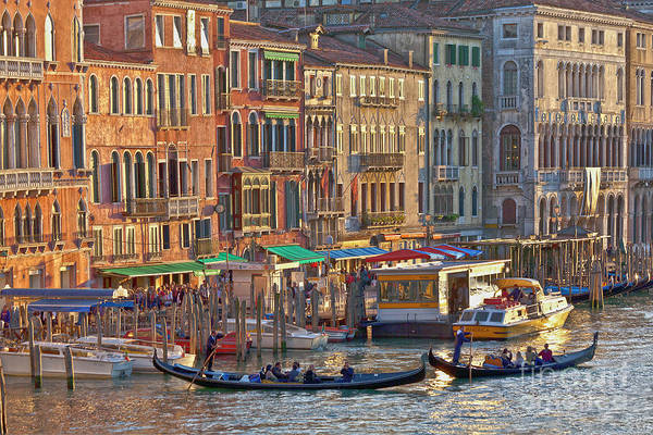 Venice Palazzi At Sundown Art Print