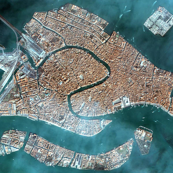St Mark's Basilica Photograph - Venice by Space Imaging Europe/science Photo Library