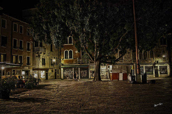 Wall Art - Photograph - Venice Square At Night by Madeline Ellis