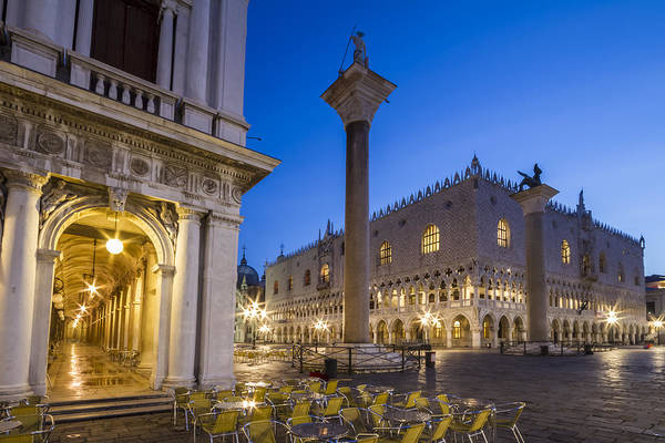Town Square Wall Art - Photograph - Venice St Mark's Square And Doge's Palace In The Morning by Melanie Viola