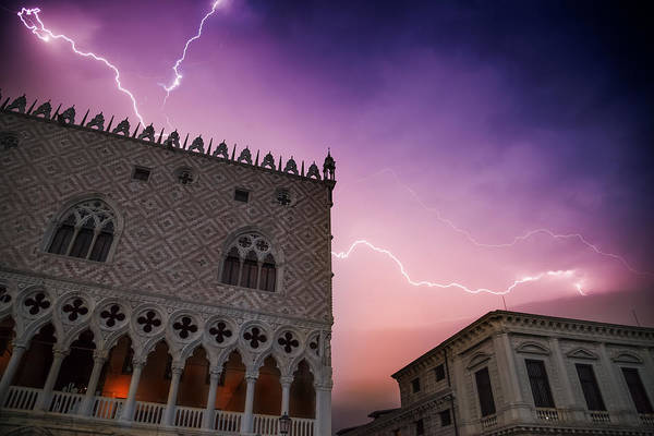 Wall Art - Photograph - Venice Thunderstorm Over Doge's Palace by Melanie Viola