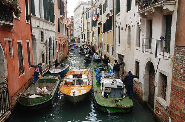 Photograph - Venice Traffic Jam by Steve Somerville