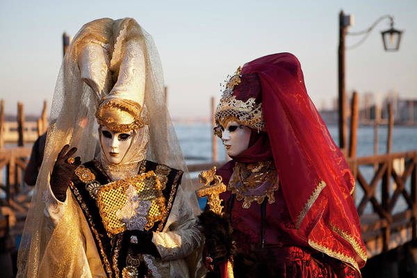 Traditional Clothing Photograph - Venice, Veneto, Italy by Latitudestock - Kavch Dadfar
