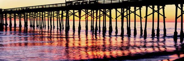 Ventura Photograph - Ventura Pier At Sunset, Ventura by Panoramic Images