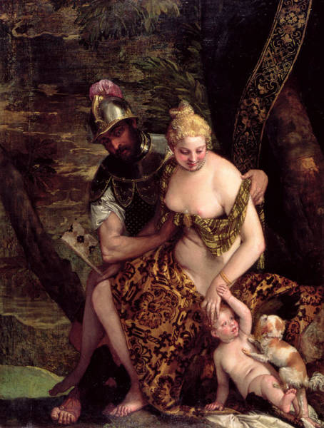 Wall Art - Photograph - Venus, Cupid And Mars Oil On Canvas by Veronese