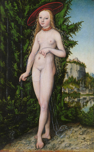 The Elder Painting - Venus In A Landscape, 1529 by Lucas the Elder Cranach