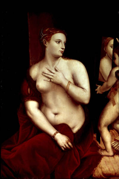 Titian Painting - Venus In Front Of The Mirror by Titian