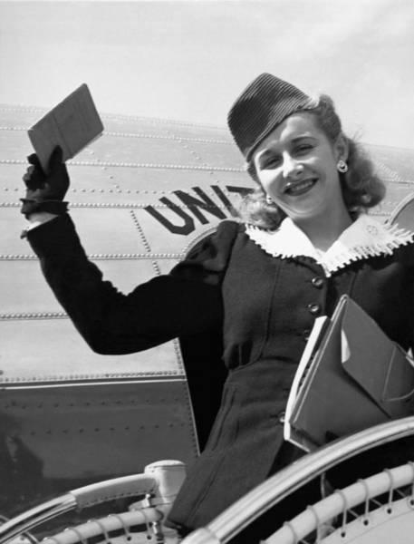Skater Photograph - Vera Hruba Gets New Visa by Underwood Archives