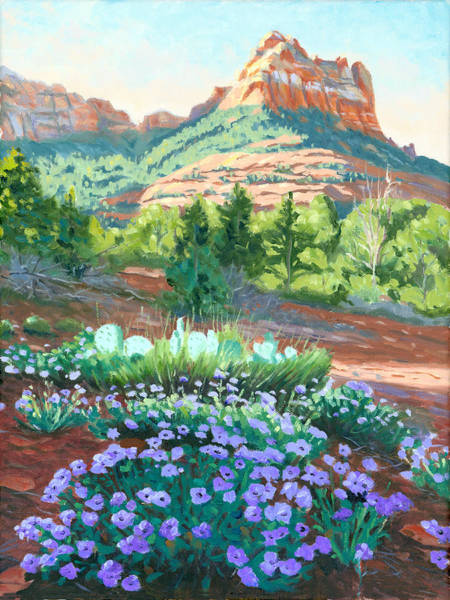 Camel Painting - Verbena In Bloom by Steve Simon
