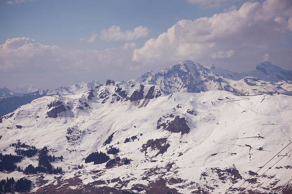 Verbier Photograph - Verbier, Savoleyres Mountain In Spring by Olivia Bell Photography