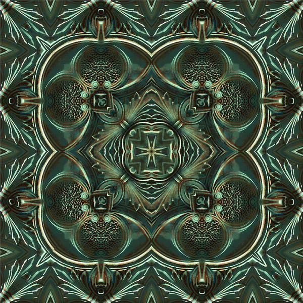 Digital Art - Verdigris Tile No 2 by Charmaine Zoe