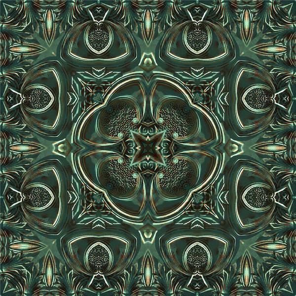 Digital Art - Verdigris Tile No 5 by Charmaine Zoe