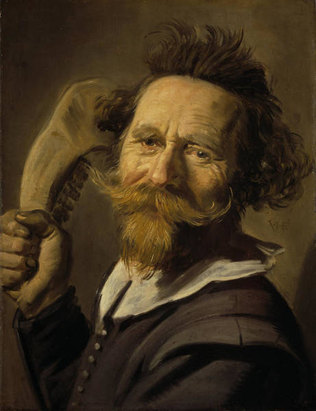 Moustaches Photograph - Verdonck, C.1627 Oil On Panel by Frans Hals