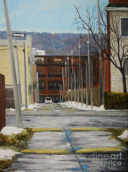 Old Montreal Painting - Verdun Lane by Reb Frost
