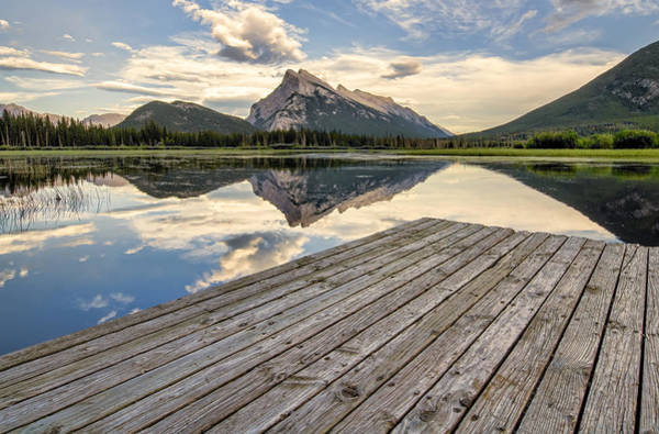 Wall Art - Photograph - Vermilion Lakes Dock Side by James Wheeler