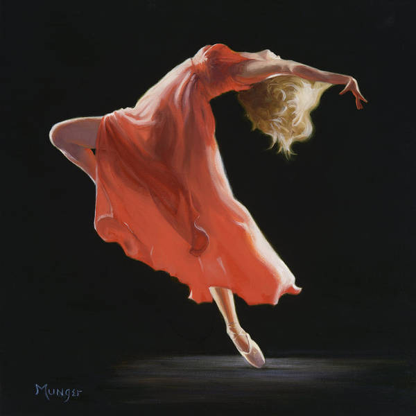 Dancers Wall Art - Painting - Vermilion by Roseann Munger