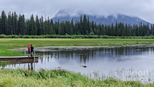 Vermillion Lakes Wall Art - Photograph - Vermillion Lakes Banff National Park Canadian Rockies by Edward Fielding