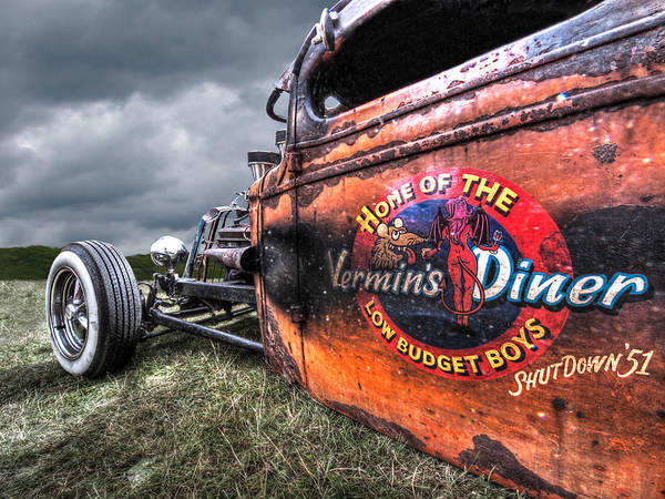 Photograph - Vermin's Diner Rat Rod by Gill Billington