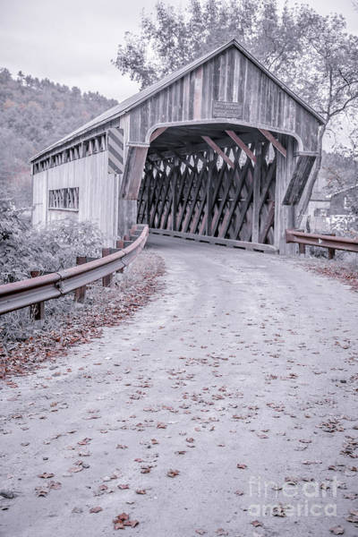 Photograph - Old Vermont Covered Bridge 10 by Edward Fielding