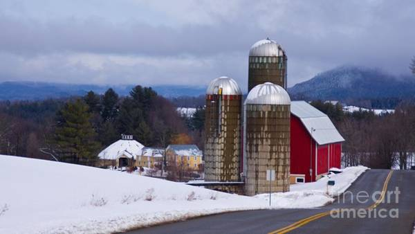 Waitsfield Photograph - Vermont Dairy Farm Revisited. by New England Photography