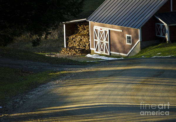 Photograph - Vermont Maple Sugar Shack Sunset by Edward Fielding