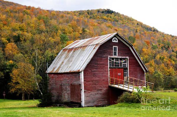 Photograph - Vermont Red Barn by David Birchall