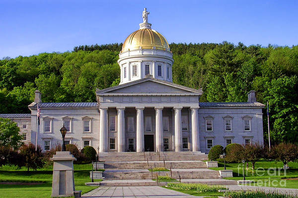 Official Photograph - Vermont State Capitol In Montpelier  by Olivier Le Queinec