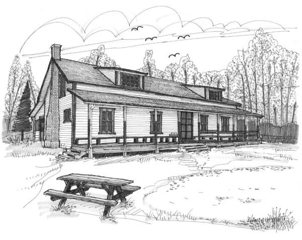 Drawing - Vermont Summer Camp 1 by Richard Wambach