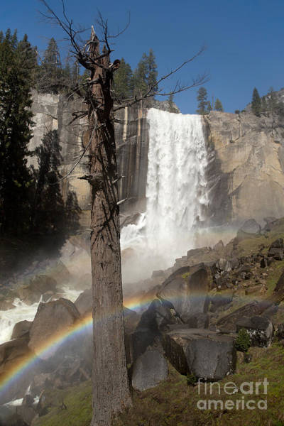 Wall Art - Photograph - Vernal Falls With Rainbow by Jane Rix