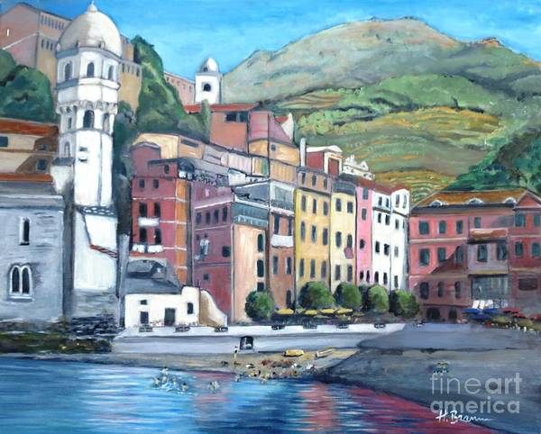 Holly Brannan Wall Art - Painting - Vernazza by Holly Bartlett Brannan