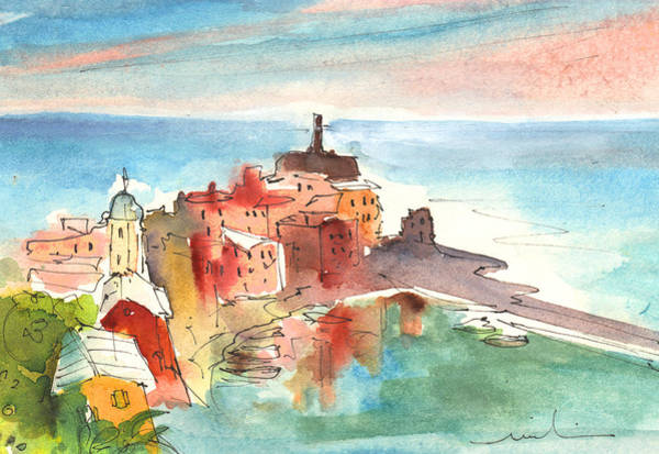 Painting - Vernazza In Italy 04 by Miki De Goodaboom