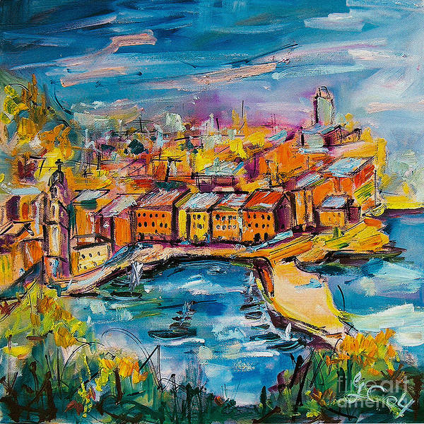 Painting - Vernazza Italy Cinque Terre by Ginette Callaway
