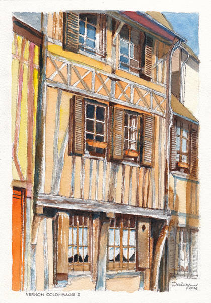 Half Timbered Painting - Vernon Colombage 2 by Dai Wynn