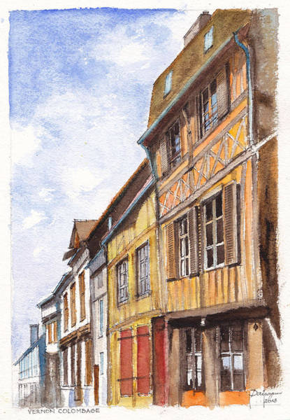 Half Timbered Painting - Vernon Colombage France by Dai Wynn