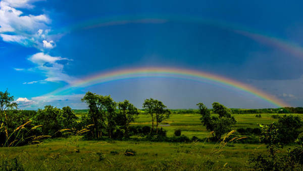 Vernon County Photograph - Vernon Marsh Double Rainbow by Randy Scherkenbach