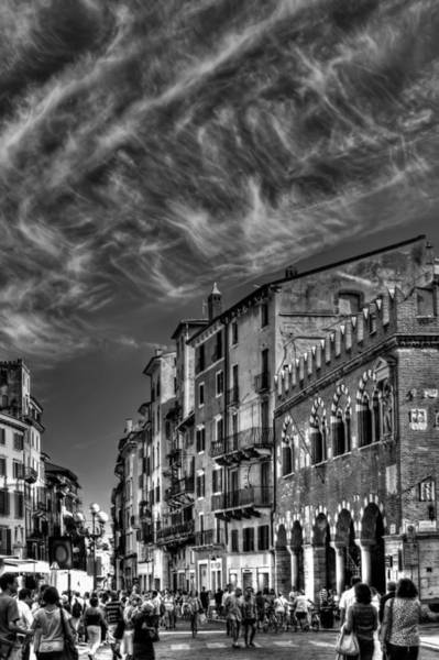 Town Square Photograph - Verona  Italy by Carol Japp