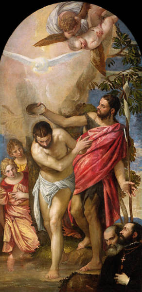 Wall Art - Painting - Veronese Baptism Of Christ by Granger
