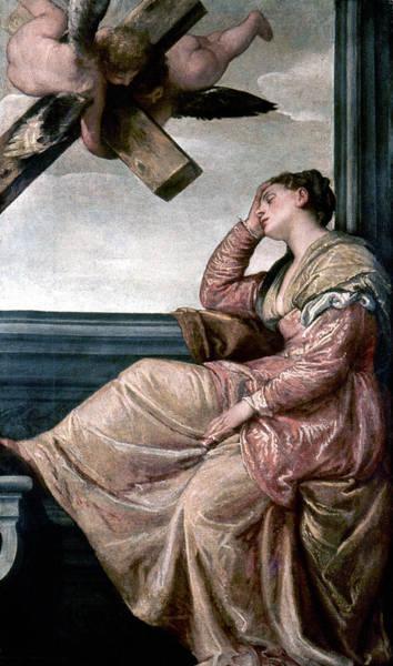 Wall Art - Painting - Veronese Saint Helena, C1570 by Granger